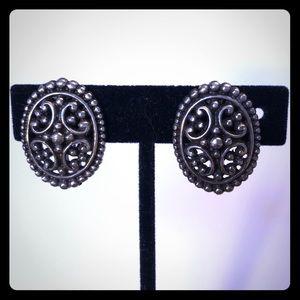 Brighton Clip on Earrings Silver Celtic Design